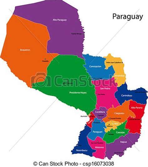 imagenes satelitales paraguay vectores de paraguay mapa map de el republic de