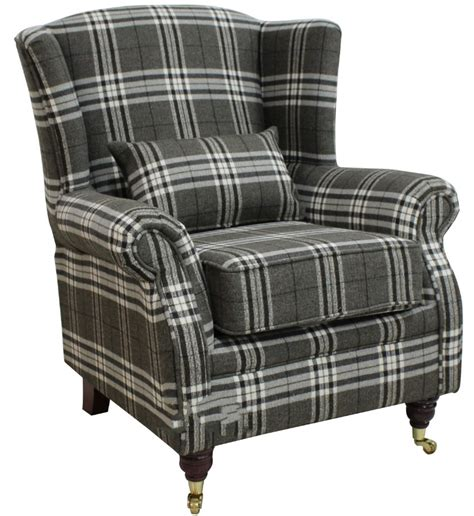 wing chair fireside high back armchair balmoral charcoal