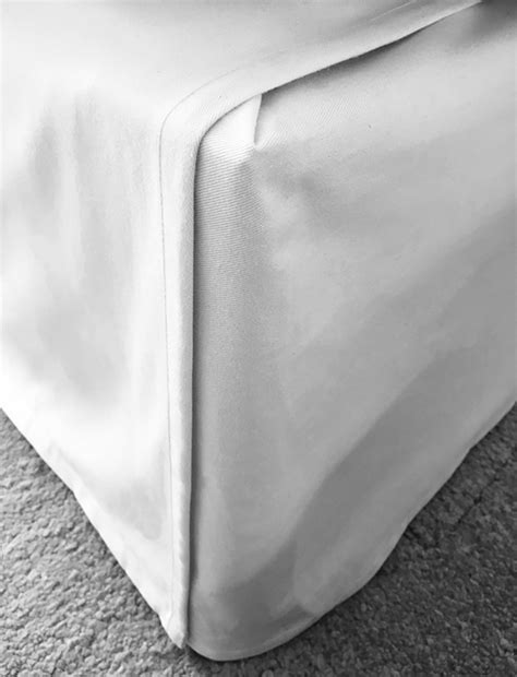 tailored adjustable bed skirt from ready made curtains improvised