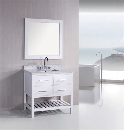 white bathroom vanities are prisms of sophistication