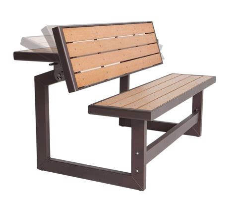 wooden outdoor table with bench seats picnic table ideas some fold into a bench woodworking