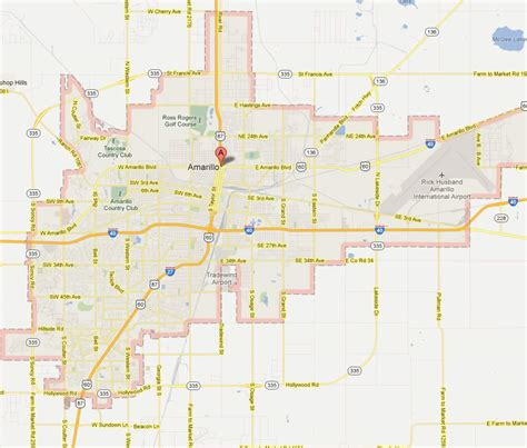 amarillo map of texas amarillo texas map