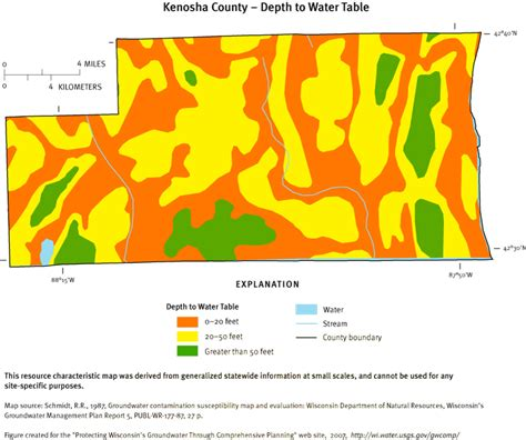 how to determine water table depth protecting groundwater in wisconsin through comprehensive
