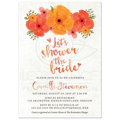 summer themed bridal shower invitations bridal shower invitations watercolor summer garden florals