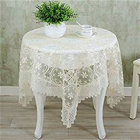 Living Room Table Cloth The New Beige Tablecloth Lace Embroidery