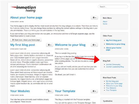joomla blog layout ordering not working working with the blogroll module in joomla 3 1 inmotion
