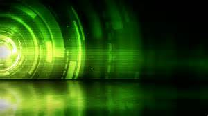 is green a cool color reflective floor background loop green rings stock footage