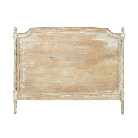 solid wood headboard distressed solid mango wood headboard w 140cm emeline
