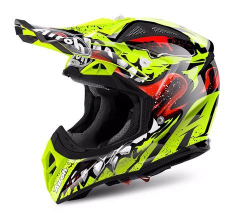airoh motocross helmets airoh aviator 2 2 grim yellow motocross mx helmet matt