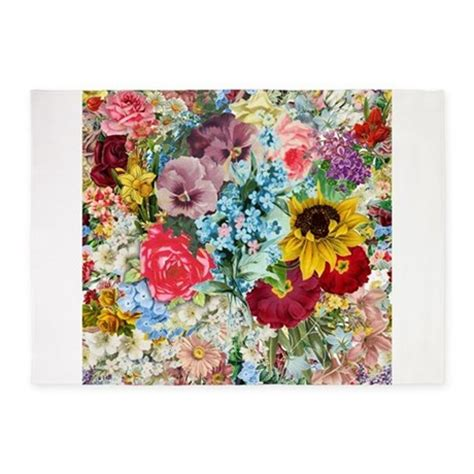 colorful floral rugs colorful flower pattern 5 x7 area rug by admin cp49789583