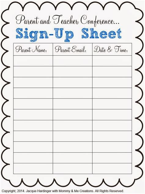 printable sign up sheet template printable thanksgiving sign up sheets calendar template 2016
