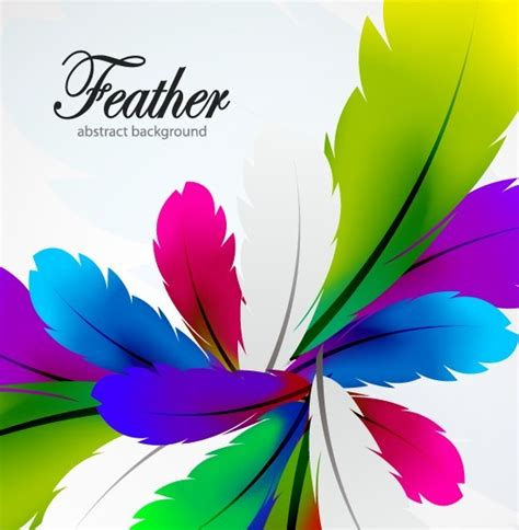 free vector colorful abstract feathers background 05 titanui