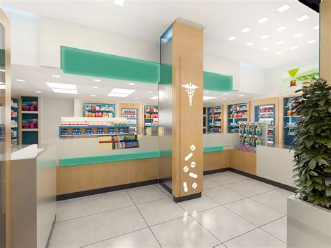 designer pictures artstation pharmacy interior design yasin alastal