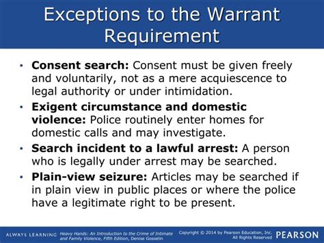 Exceptions To The Search Warrant Requirement Ppt The Response To Intimate Partner Violence