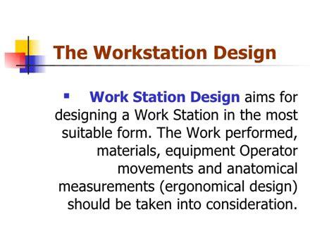 workstation layout definition what is workstation design