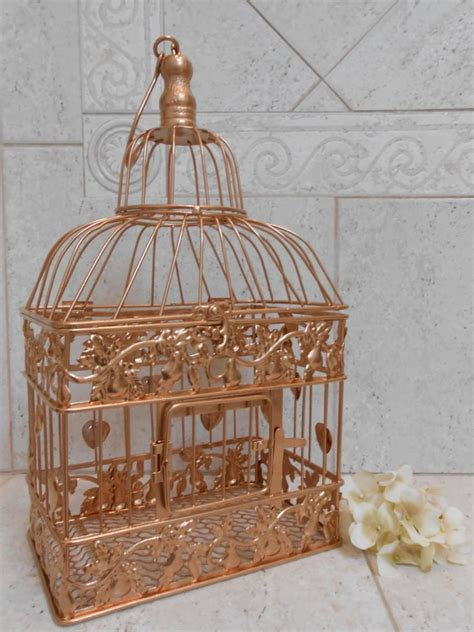 small gold wedding birdcage card holder wedding