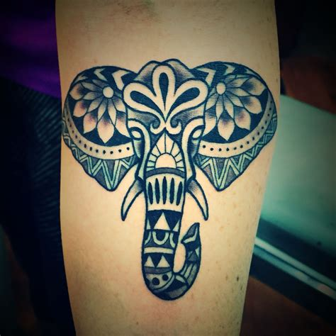 elephant tribal tattoos elephant tribal ink tatting