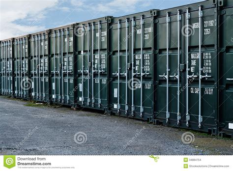 self storage containers shipping containers stock images image 34884754