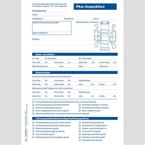Angebot Pkw Muster Pkw Inspektion Din A4 50 St 252 Ck Block