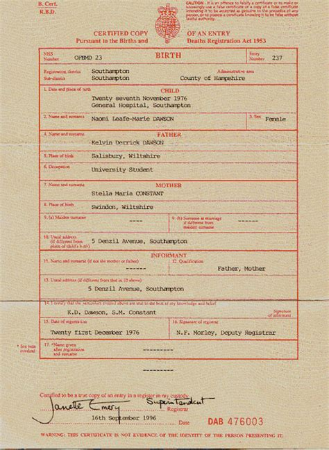 Uk Birth Record Uk Birth Certificate Copy