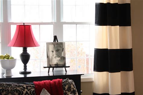 bold black and white striped curtains the yellow cape cod 31 days of character building how