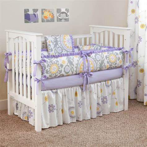 custom crib bedding custom boutique baby bedding suzani lavender 5 pc crib