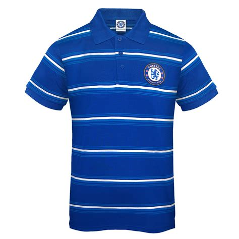 Polo Official Chelsea 007 chelsea fc official football gift mens striped polo shirt blue ebay