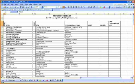 wedding list spreadsheet template wedding budget excel spreadsheet wedding spreadsheet