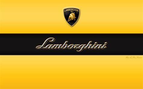 lamborghini font lamborghini font logo automotiv yellow black hd wallpaper