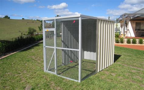 Bird Sheds bird aviary with steel or wired flat roof price starts 480 col western sheds