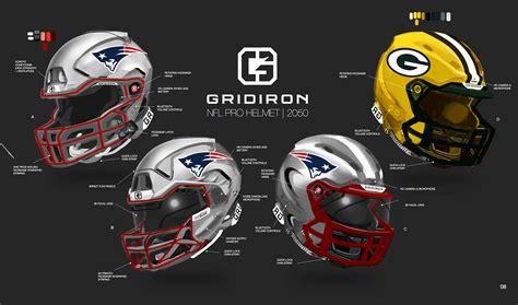 nfl helmet design rules gridiron labs 2030 nfl helmet on behance