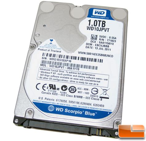 Disk Western Digital 1tb wd scorpio blue 1tb notebook drive review page 2 of 10 legit reviewsthe test system