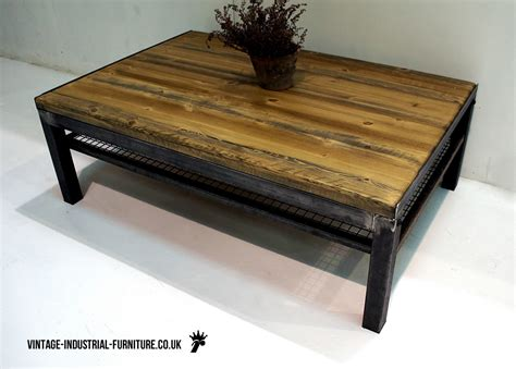 how to buy vintage furniture vintage industrial coffee table with shelf