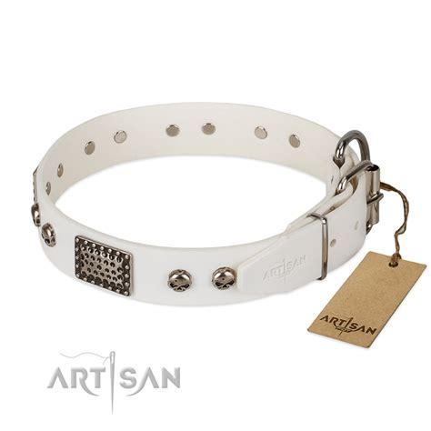 Handmade Collars Uk - white collar buy handmade collar of