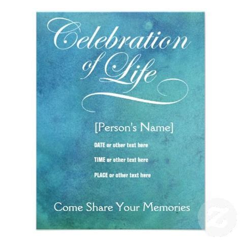 free memorial card template with messianic symbols poems celebration of memorial invitation