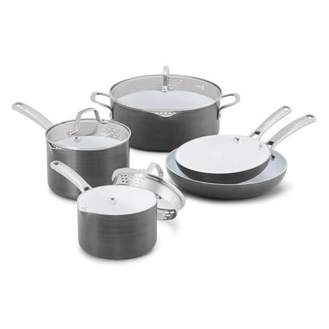 calphalon kitchen essentials induction ceramic coated cookware advantage nonstick 11 cookware set calphalon kitchen essentials