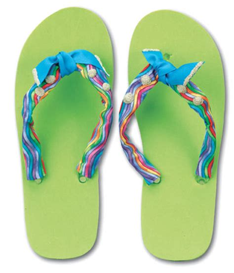 flip flop craft projects ribbon and bead flip flops favecrafts