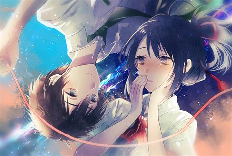 couple crying hd wallpaper download 1920x1296 kimi no na wa taki tachibana mitsuha