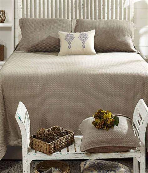 Bed Cover My Cotton Maspar Plain Cotton Bed Cover In Gray Buy Maspar Plain