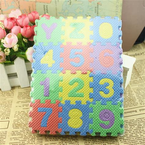 Gamis Baby Ribbon Flo Tile 2017 baby toys numeral 1 10 floor foam mat jigsaw play mat puzzle childrens diy toys floor