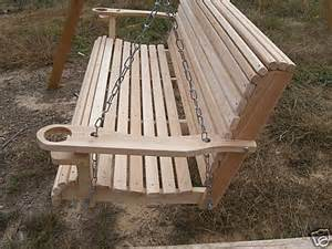 Porch swing 5 ft cypress swings made usa free cup arms eco earth