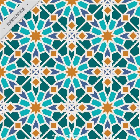 islamic pattern vector ai colors islamic mosaic vector premium download