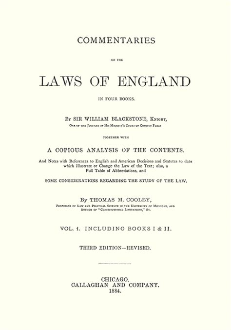 commentaries on the laws of england in four books vol 2 commentaries on the laws of england in four books with a