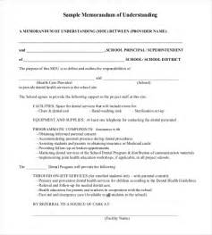 Sample Memorandum Of Agreement Template Memorandum Of Understanding Template Beepmunk