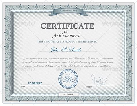certificate of completion template psds certificate