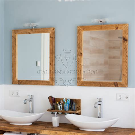 specchio in bagno specchio in legno massello naturale simon acquista ora