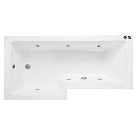 l shaped bathtub l shaped whirlpool shower bath left handed buy online at