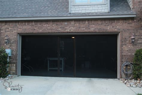 Screen Doors For Garage Check Out My New Garage Screen So Awesome Shanty 2 Chic