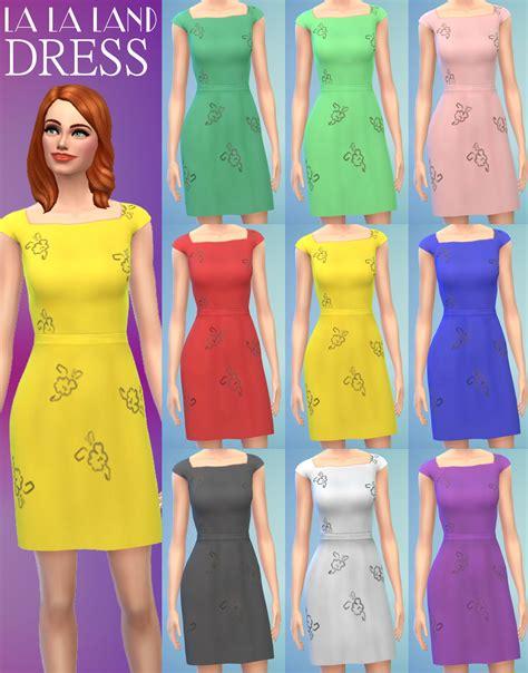 Lala Dress mod the sims s yellow dress from la la land