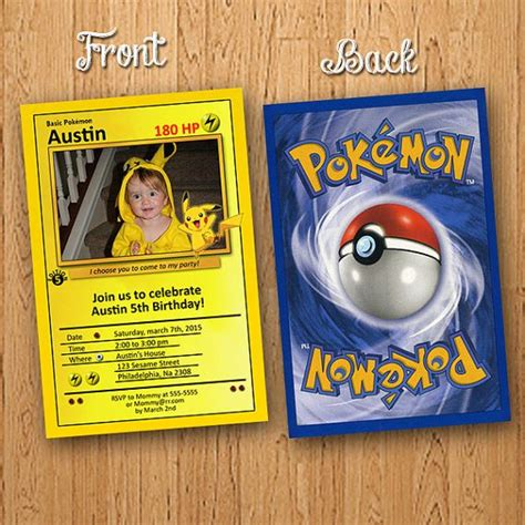 pikachu birthday card template pikachu card birthday invitation by